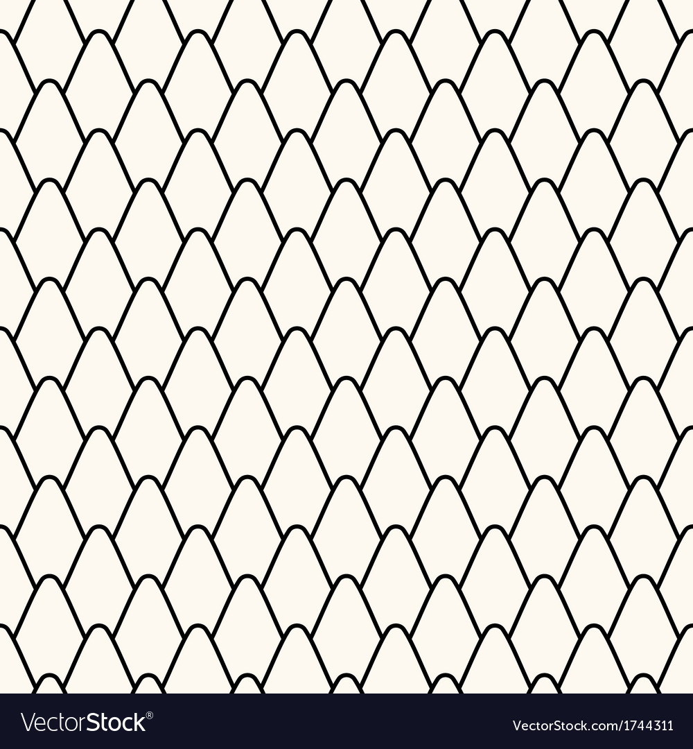 Seamless pattern with stylized scales