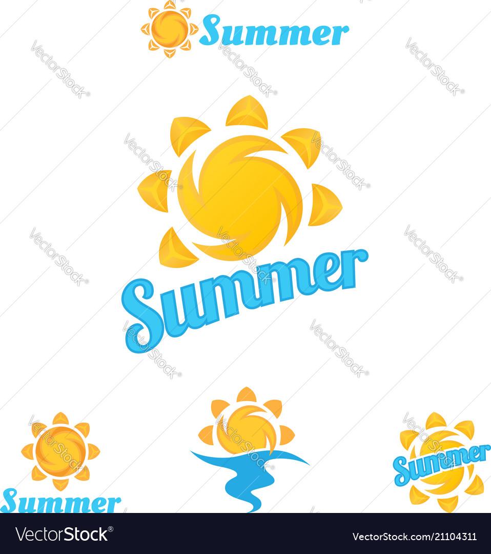 Summer logo beautiful summer