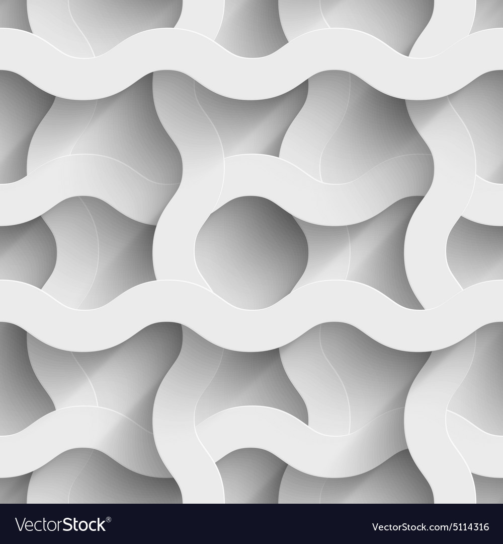 Abstract white paper waves 3d seamless background