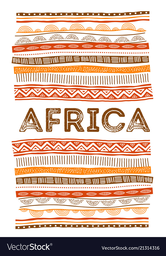 African background flyer with tribal traditional