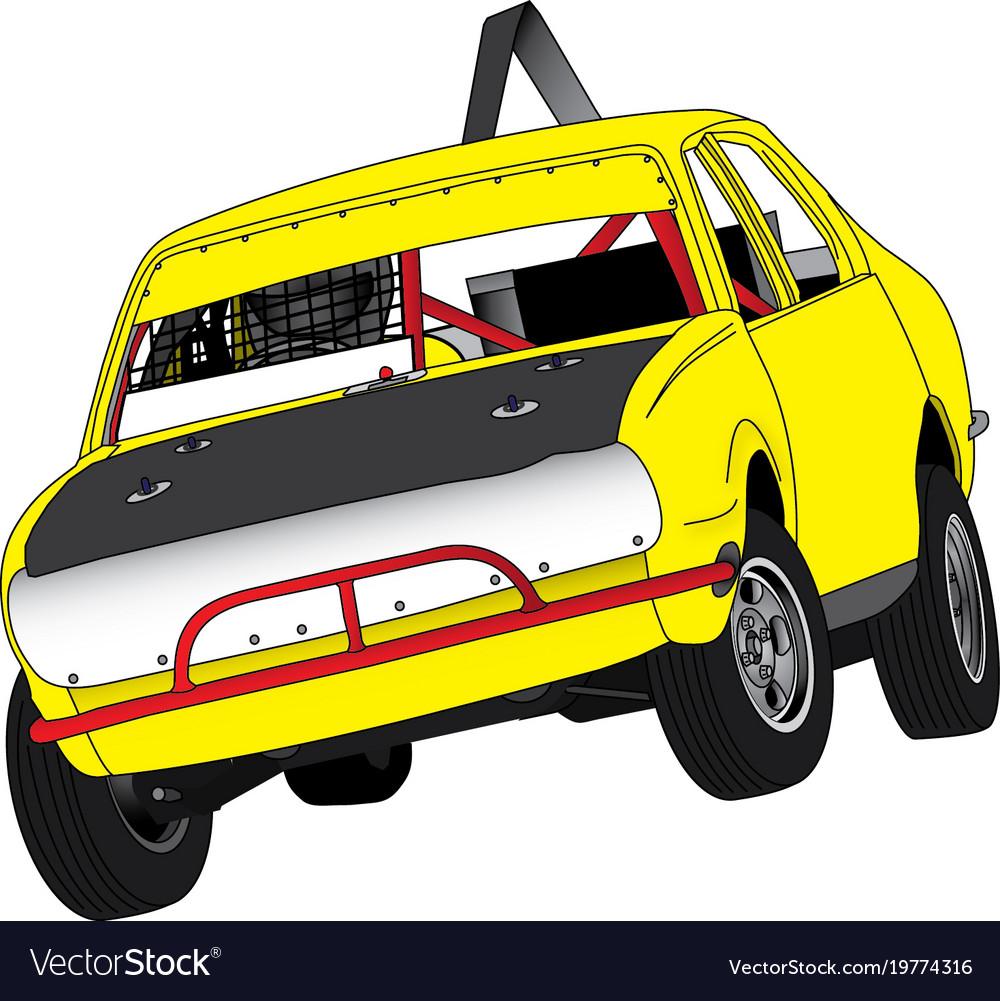 Australian speedway junior sedan Royalty Free Vector Image