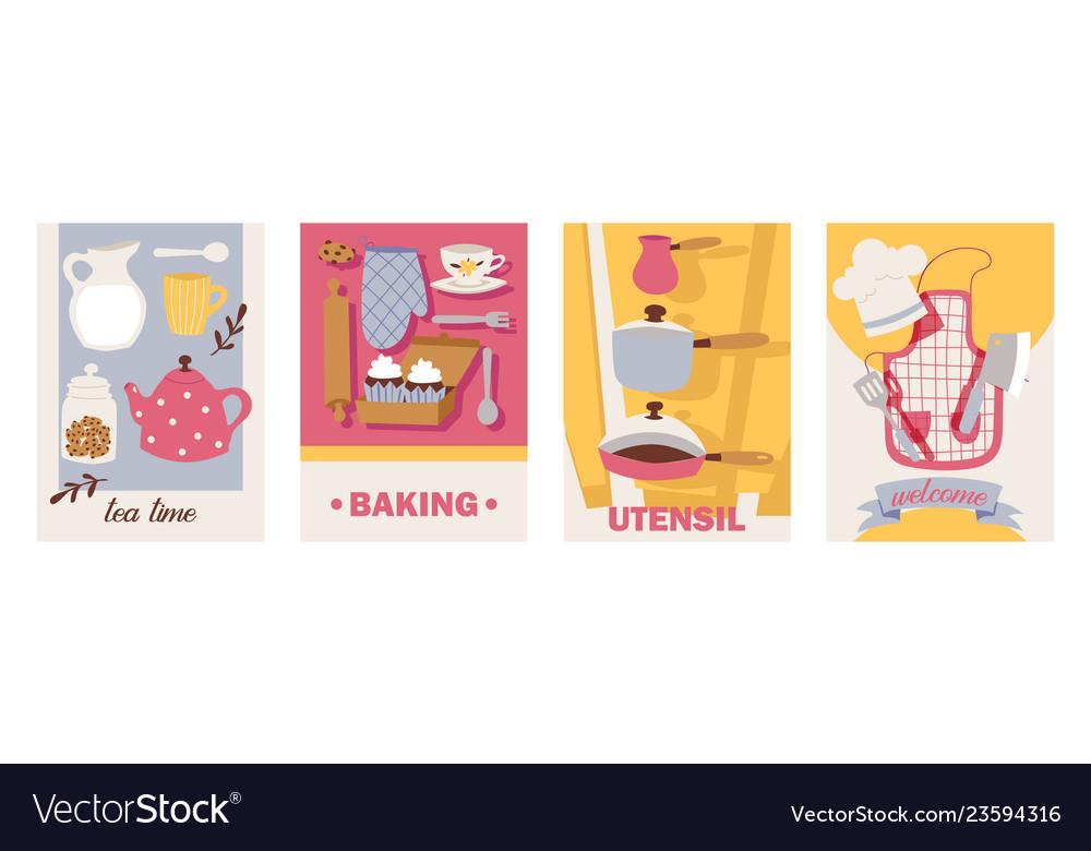 Cooking cards teatime baking