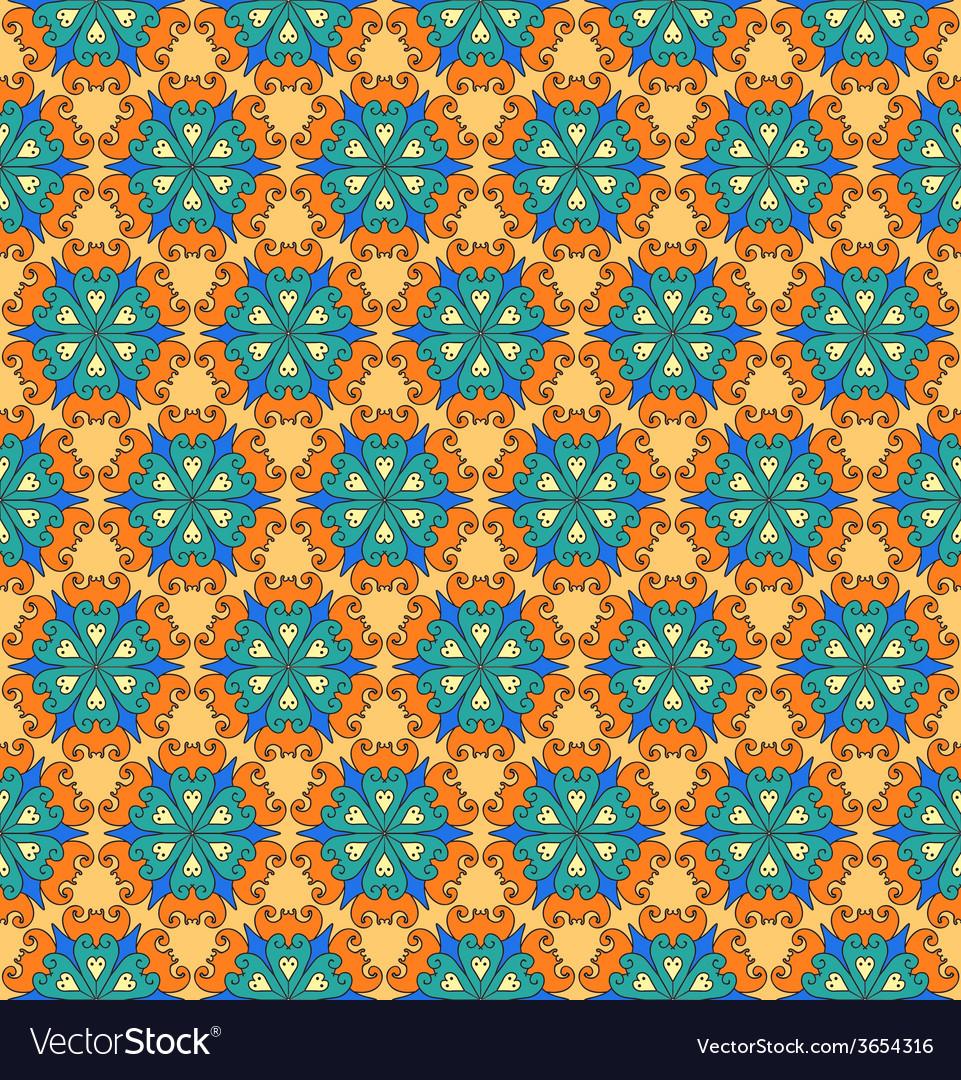 Hand drawn folk ethnic ornamented seamless pattern
