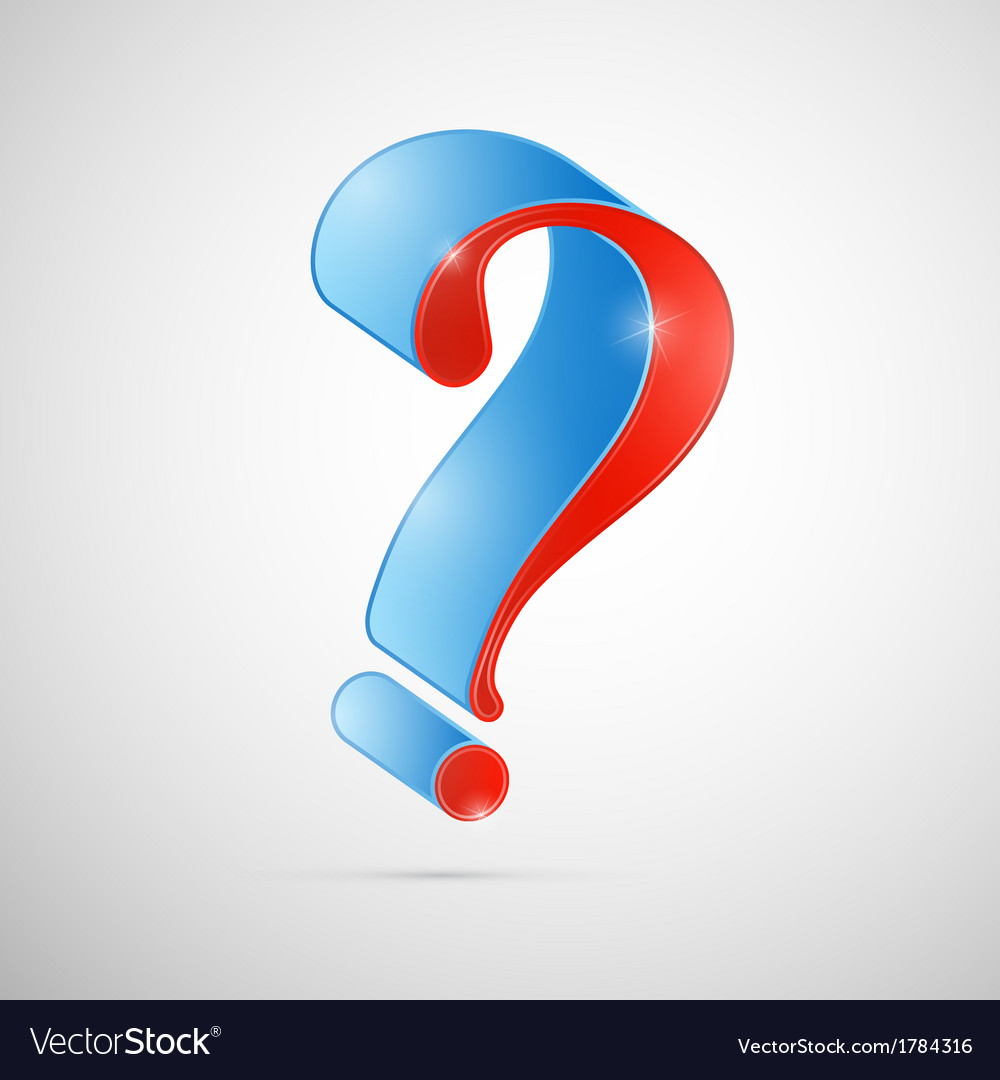 Red And Blue 3d Question Mark Symbol Royalty Free Vector