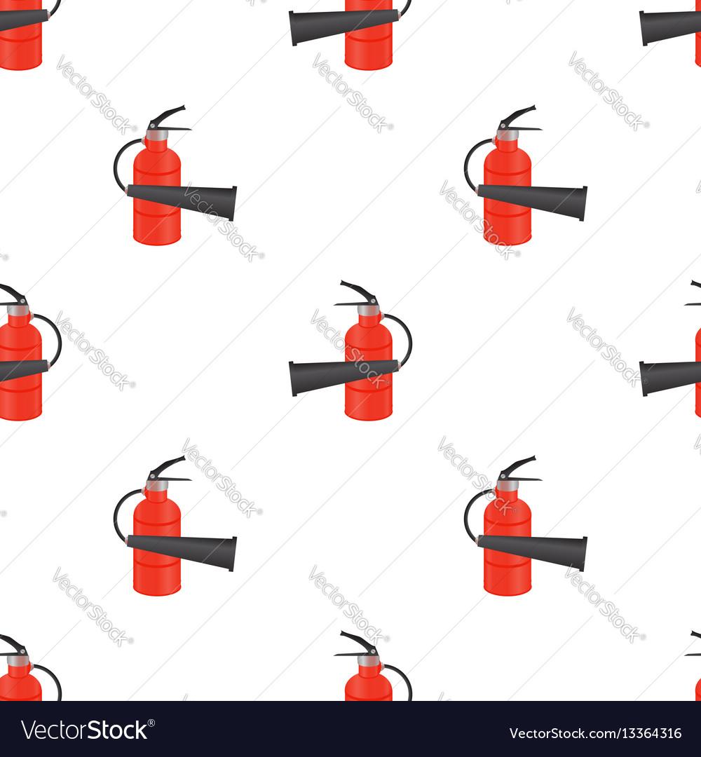 Red metallic extinguisher seamless pattern