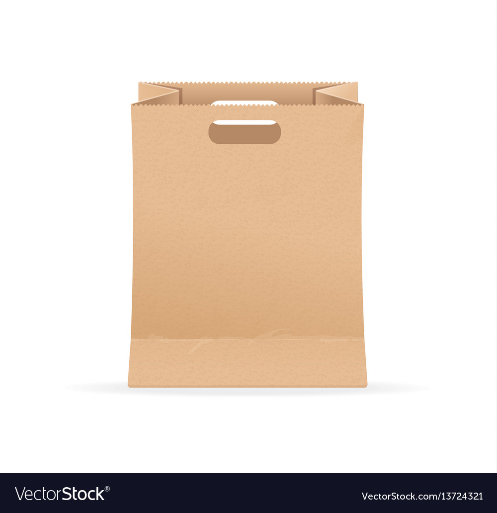 Empty blank template paper bag sale vector image