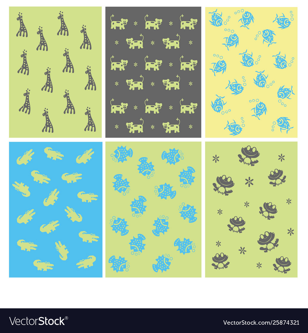 Funny animals kids pattern