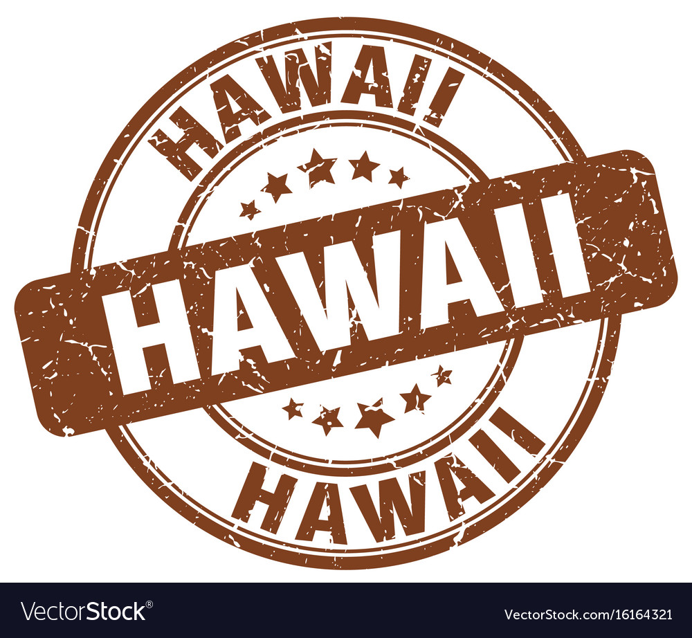 Hawaii Stamp Royalty Free Vector Image
