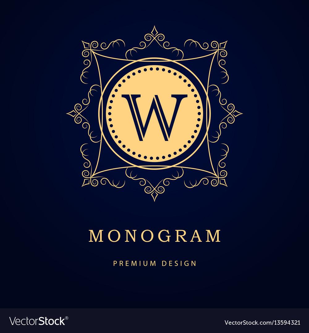 Monogram design elements graceful template