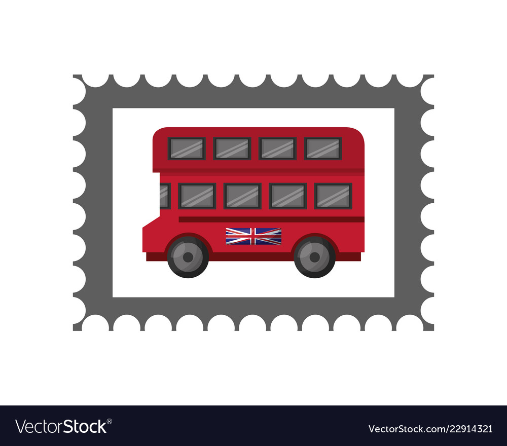 Postage Stamp Template Royalty Free Vector Image