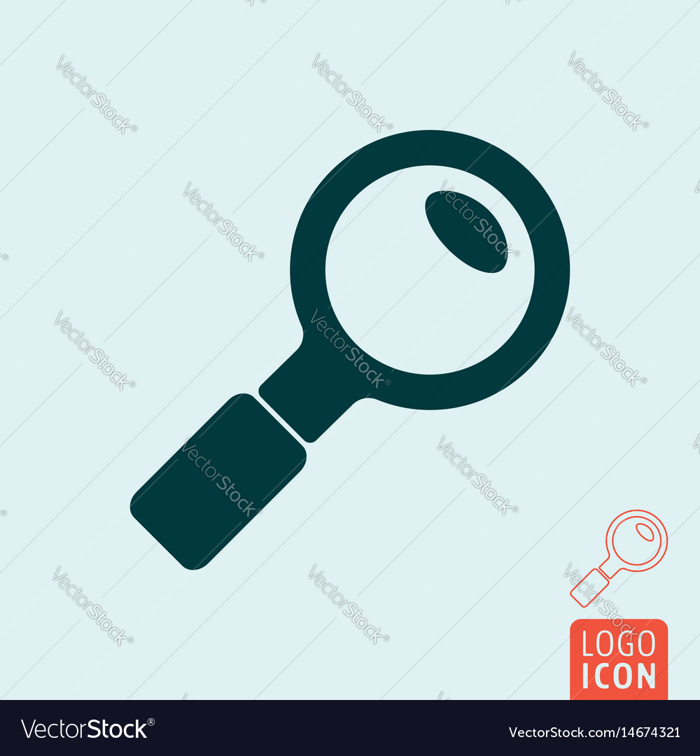 Search icon isolated