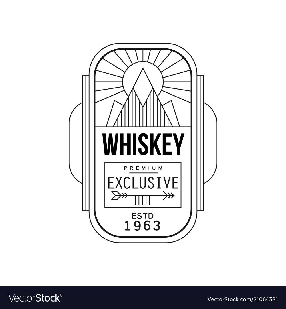 Whiskey vintage label design premium exclusive