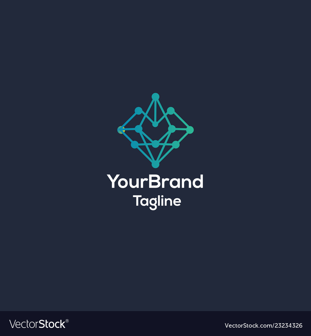 Abstract tech logo template