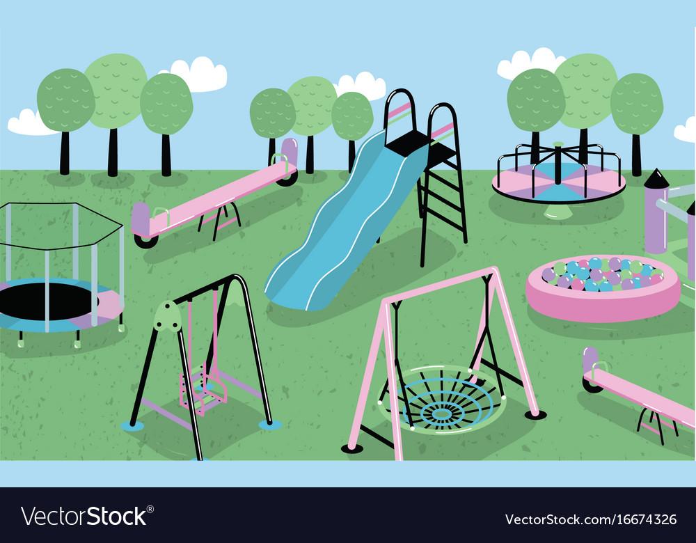 Children playground different children s outdoor