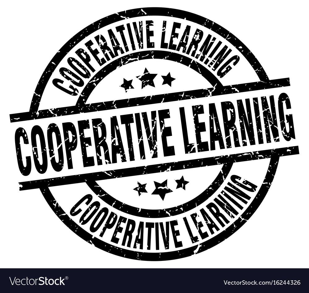 Cooperative learning round grunge black stamp