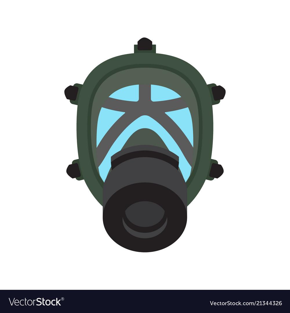 Gas mask isolated flat icon