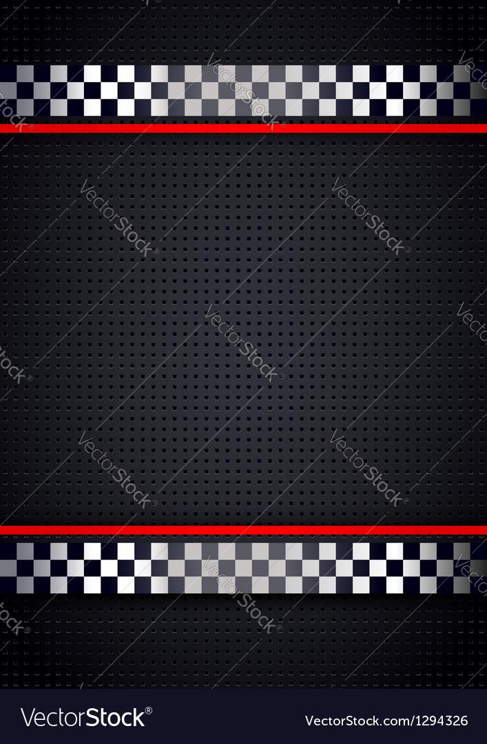 Racing background metallic perforated