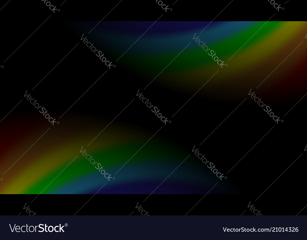 Rainbow gradient on black background color