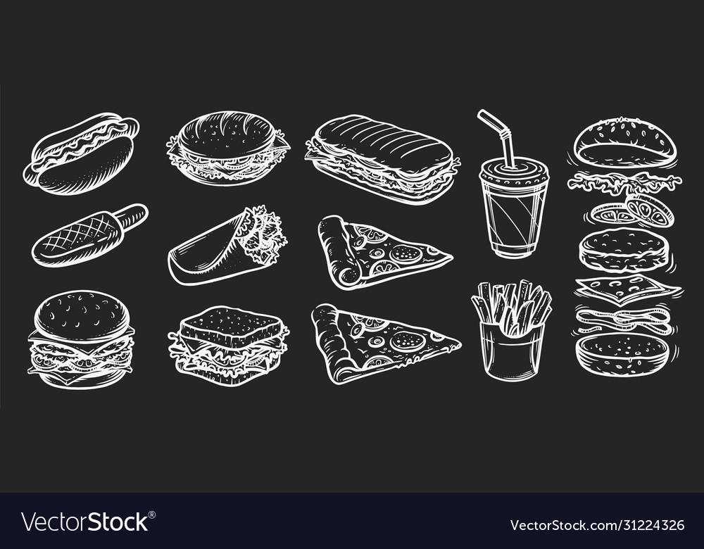 Set fast food in