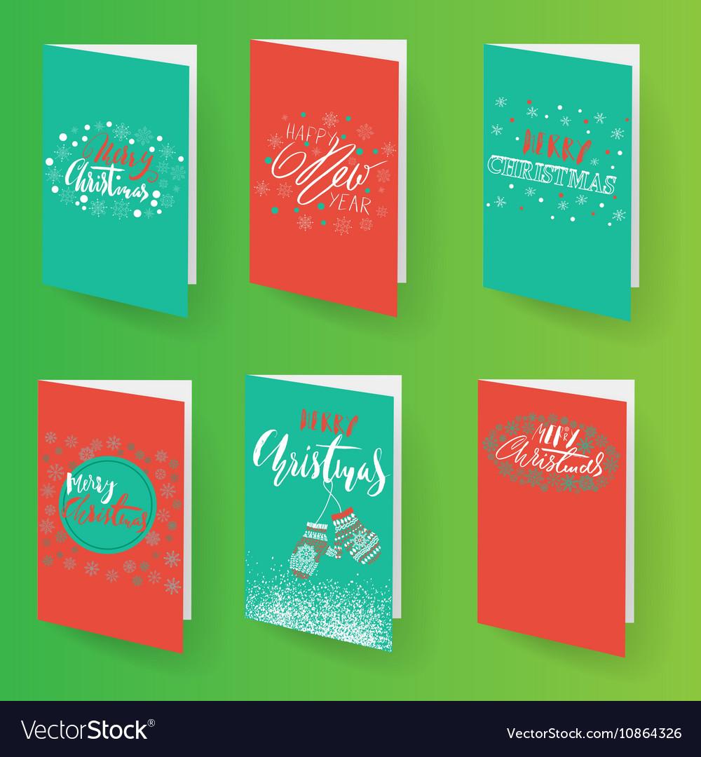 Set Of Christmas Brochures Templates Royalty Free Vector