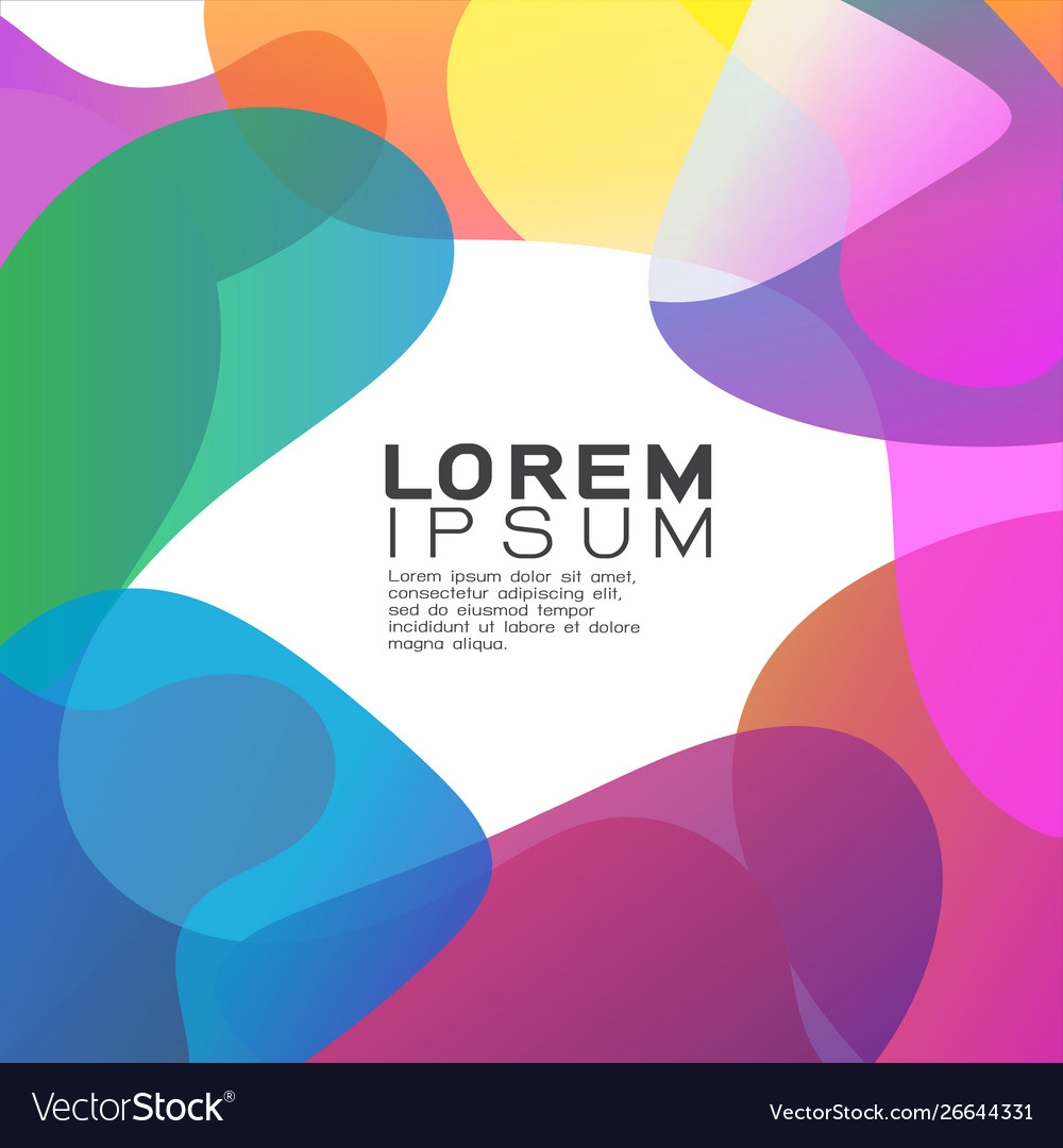 Abstract gradient overlapping background design