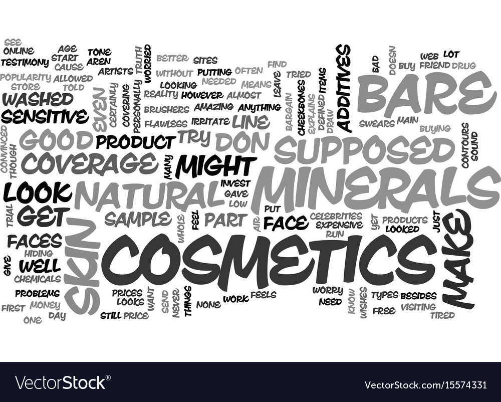 Bare minerals cosmetics text word cloud concept