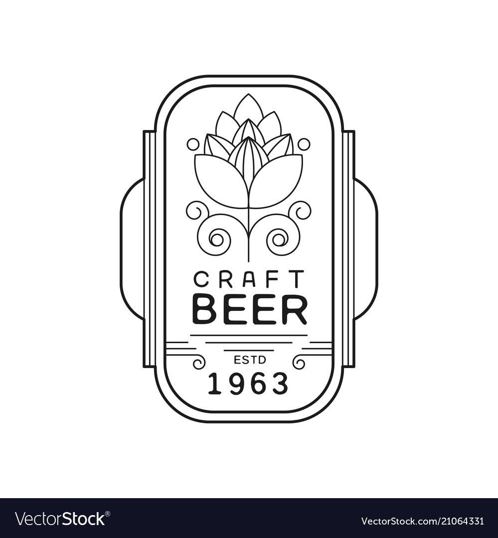 Beer vintage label design alcohol industry