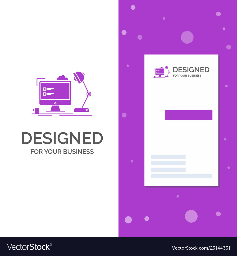 business logo for workplace workstation office vector image