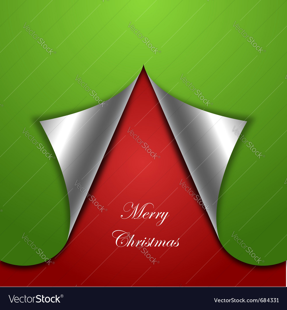 Chirstmas tree background vector