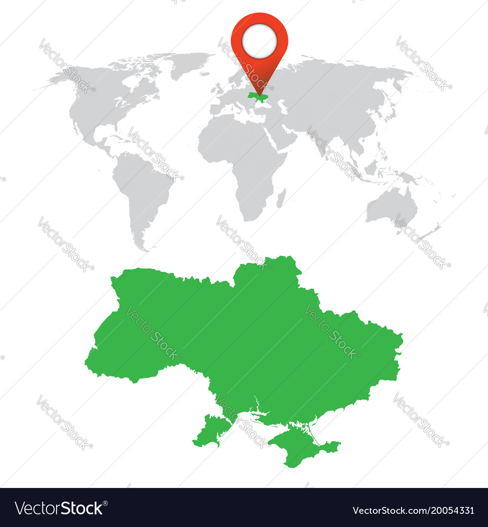 Picture of: Detailed Map Of Ukraine And World Map Navigation Vector Image