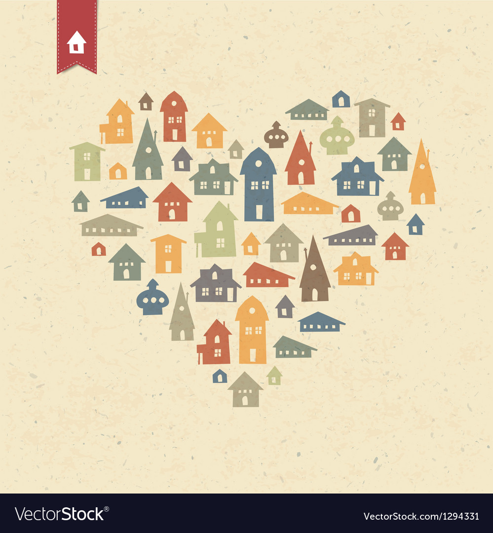 Houses heart shaped