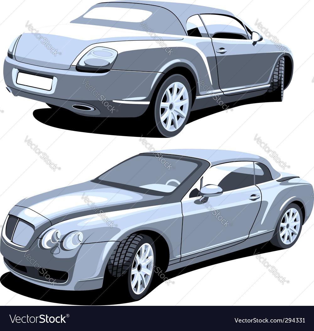 Luxury car gray