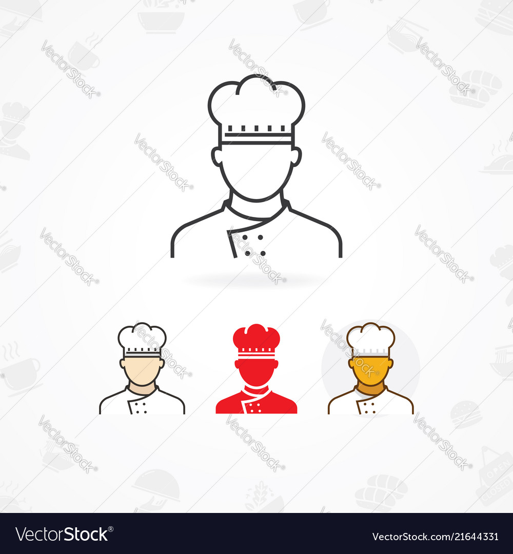 Outline icon of chef