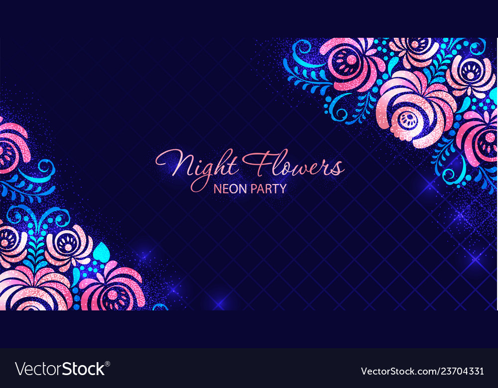 Retro floral futuristic abstract background made