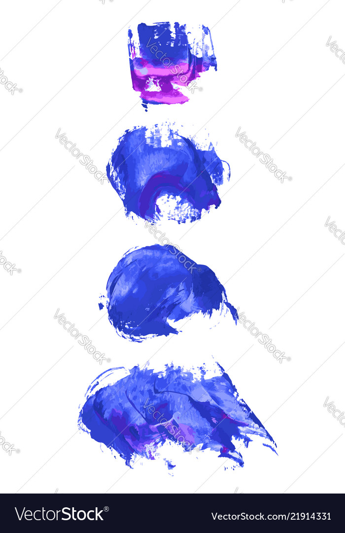 Set of navy blue watercolor backgrounds