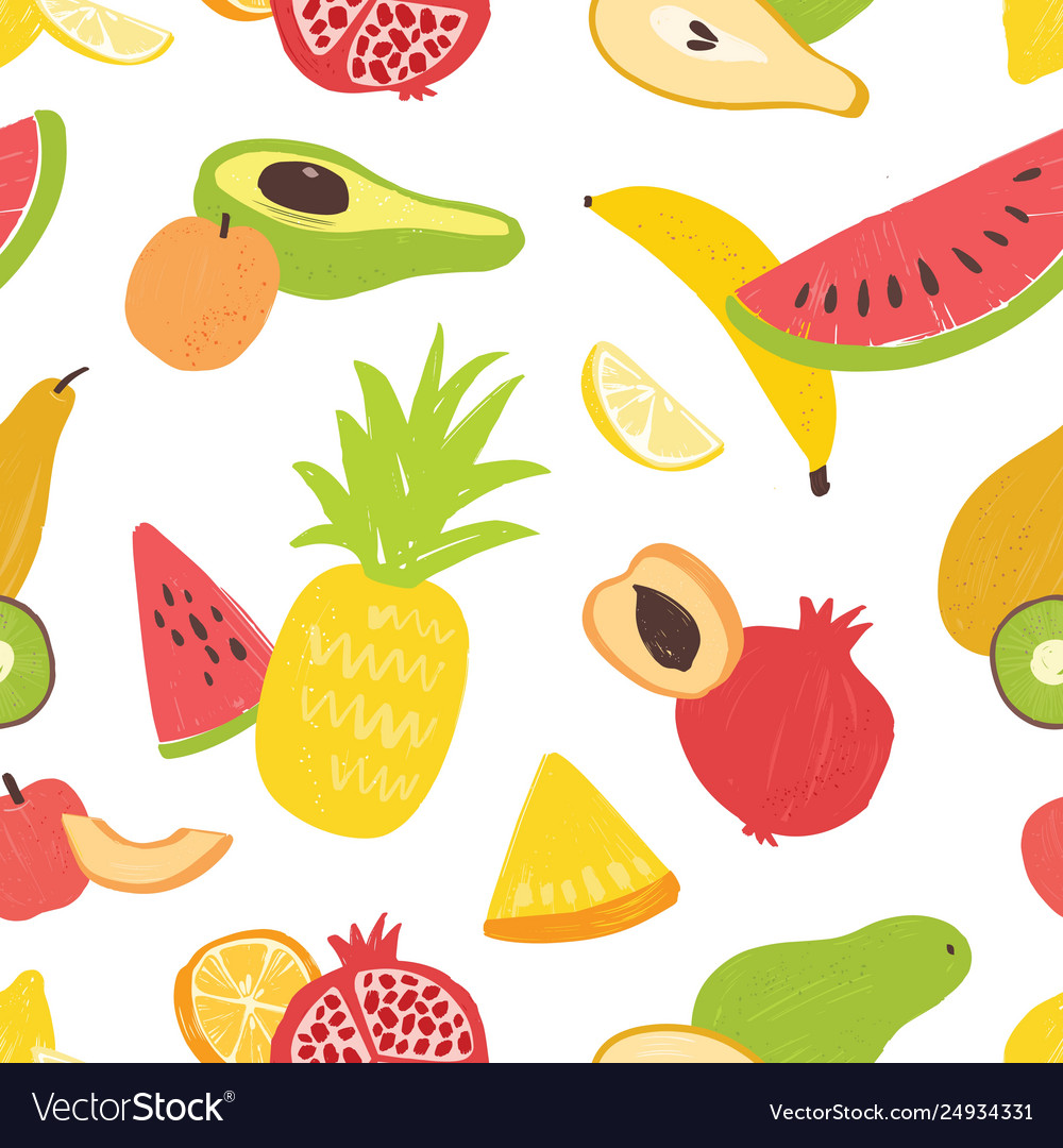 Summer seamless pattern with delicious sweet