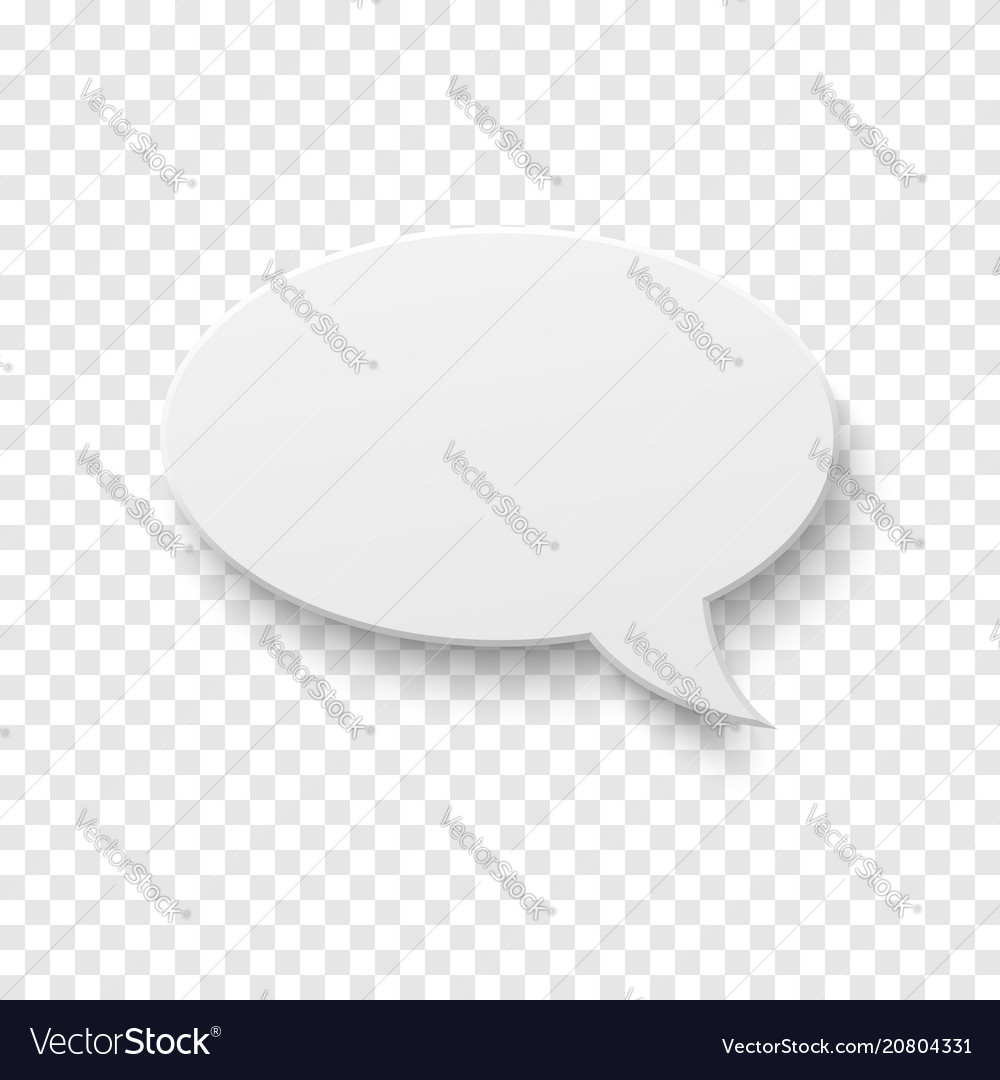 White blank paper speech bubble