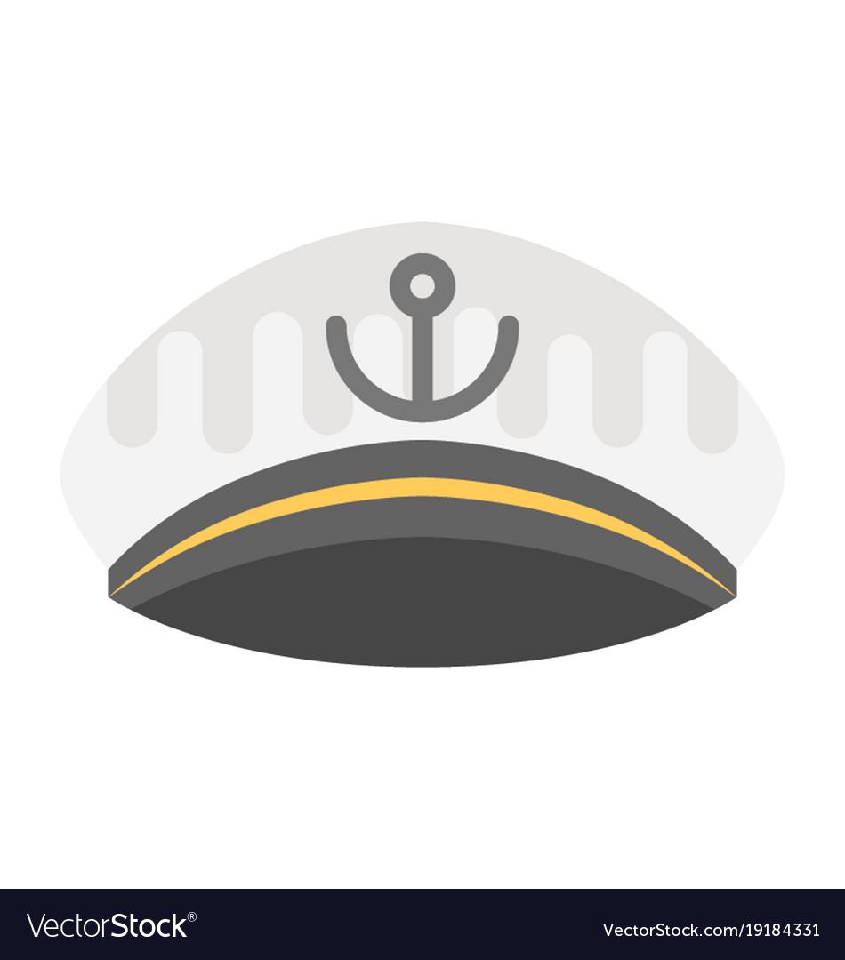 40c7f089 Yacht captain cap Royalty Free Vector Image - VectorStock