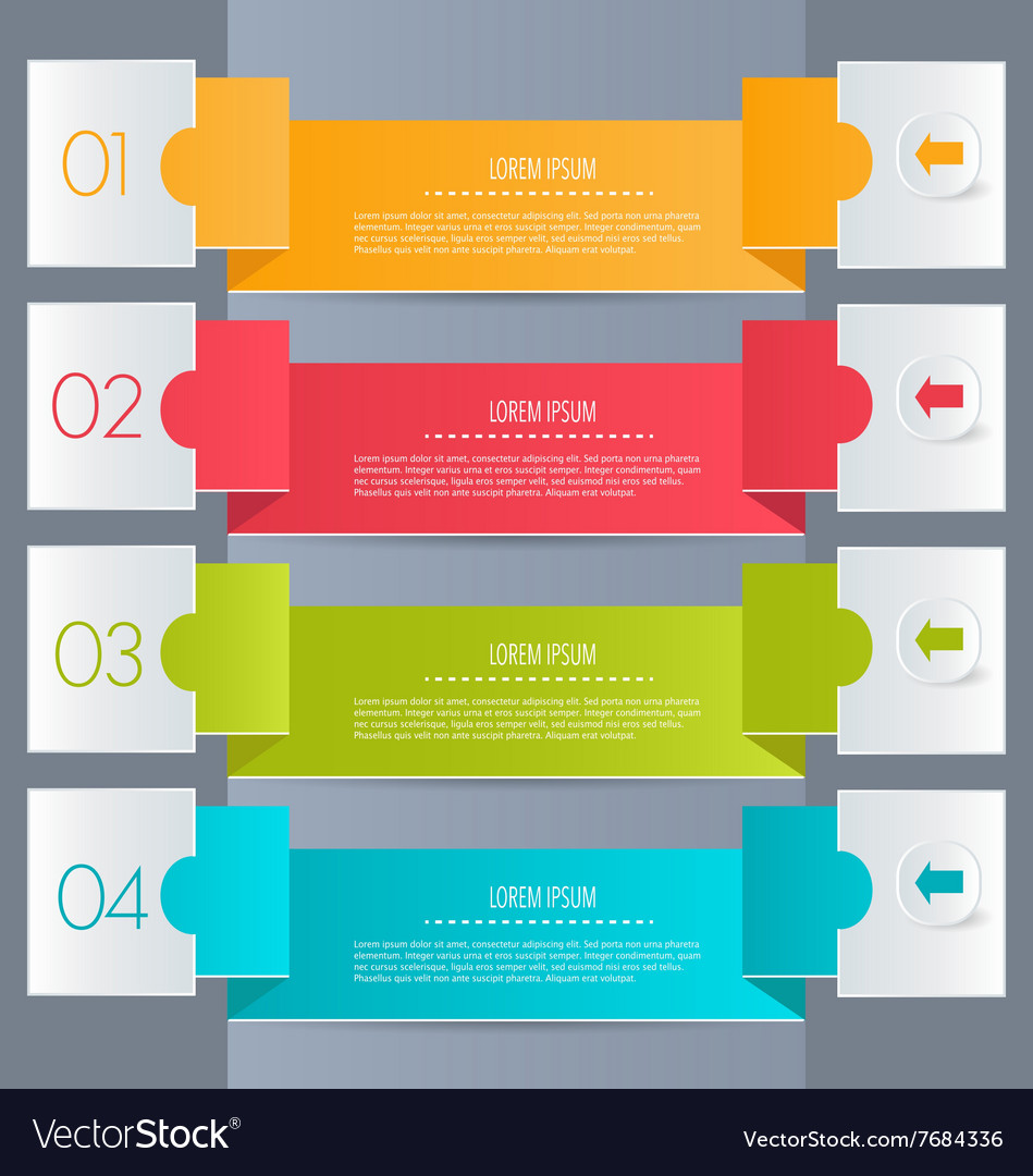 business infographics tabs template for royalty free vector