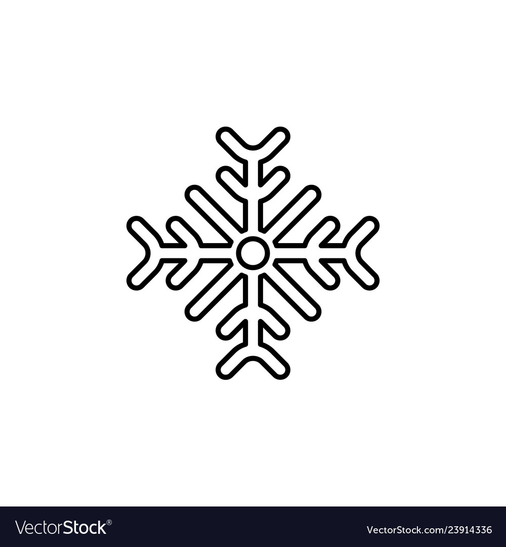 Christmas snowflake outline icon element of new