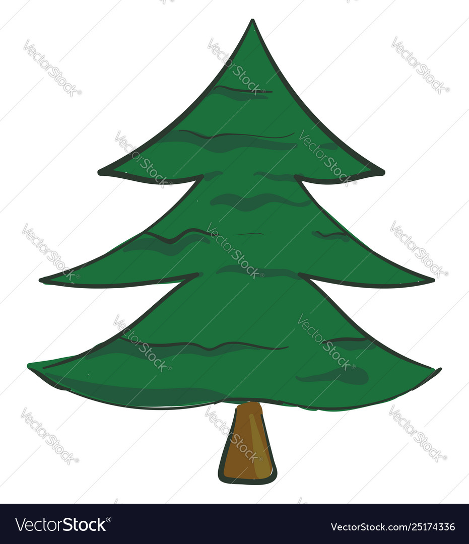 Pine tree cute. Clipart a spruce treexmas