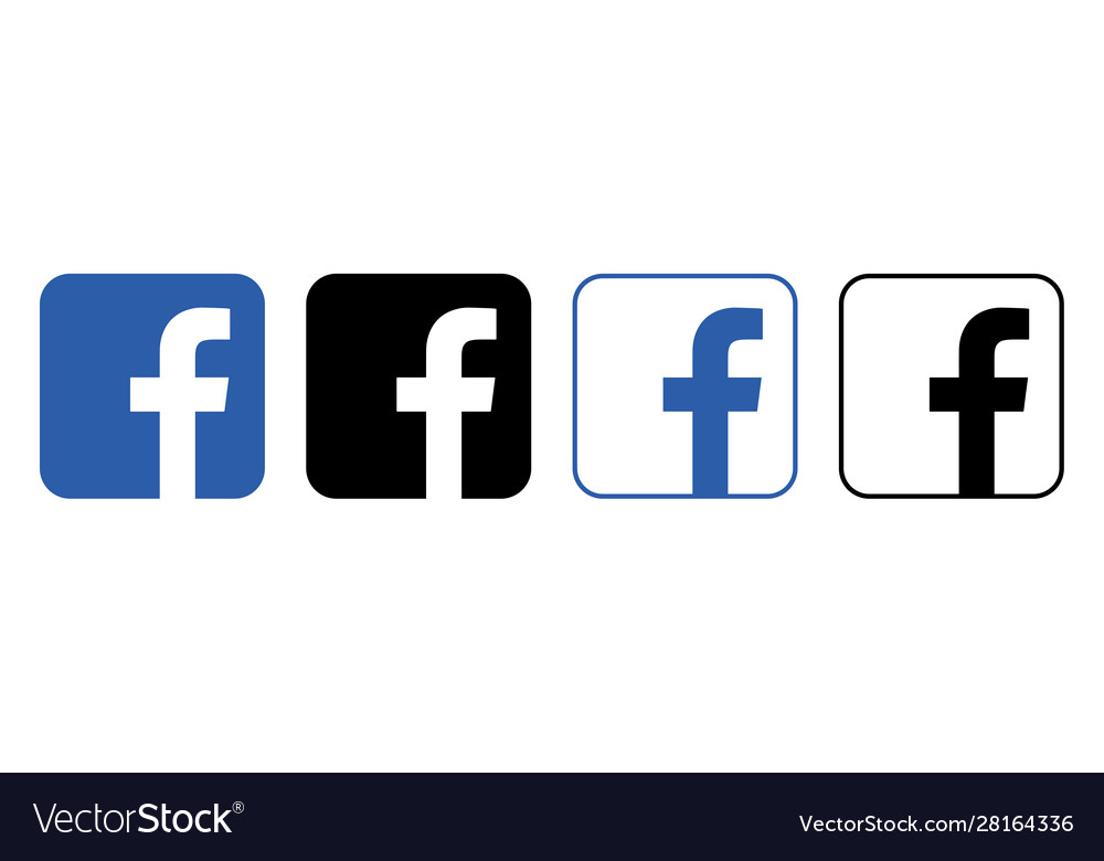 Facebook logo with shadow on a transparent