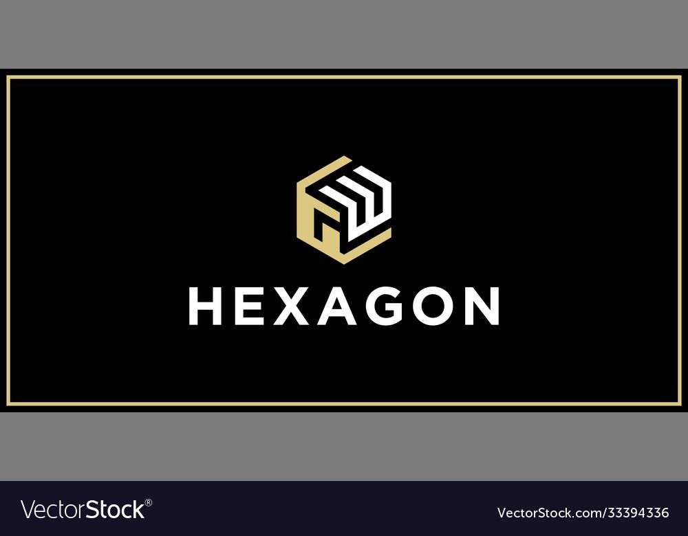 Gw hexagon logo design inspiration