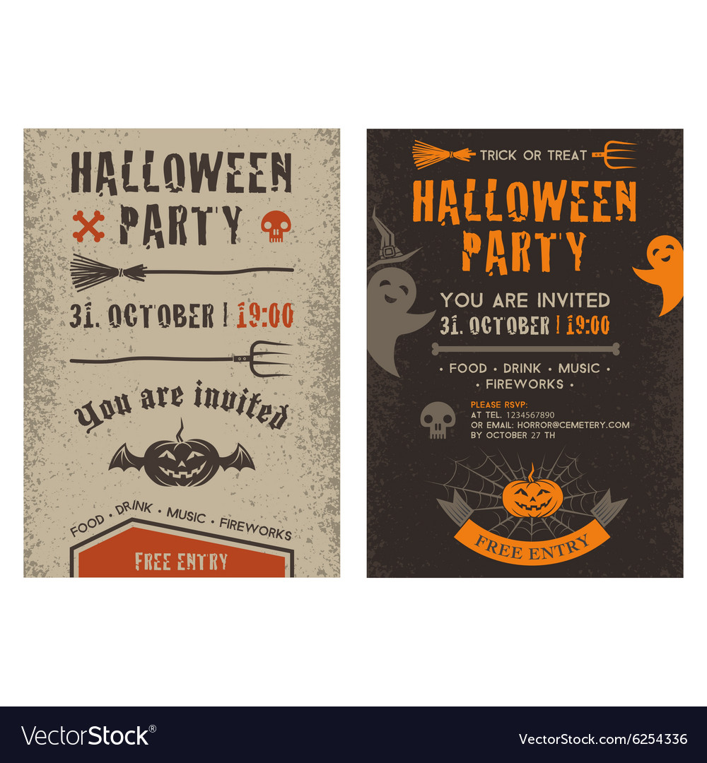 halloween flyer royalty free vector image vectorstock