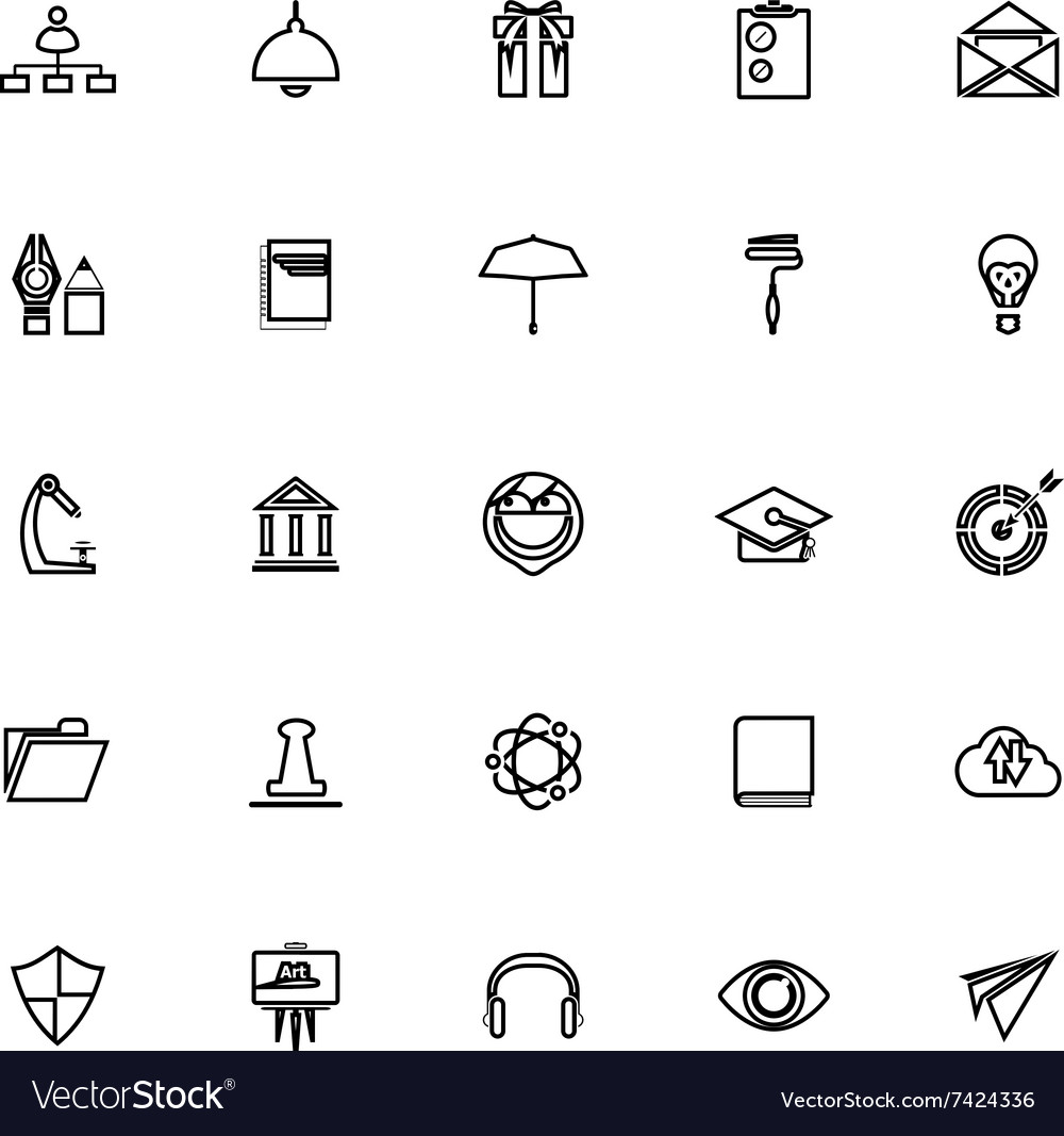 black resume icons