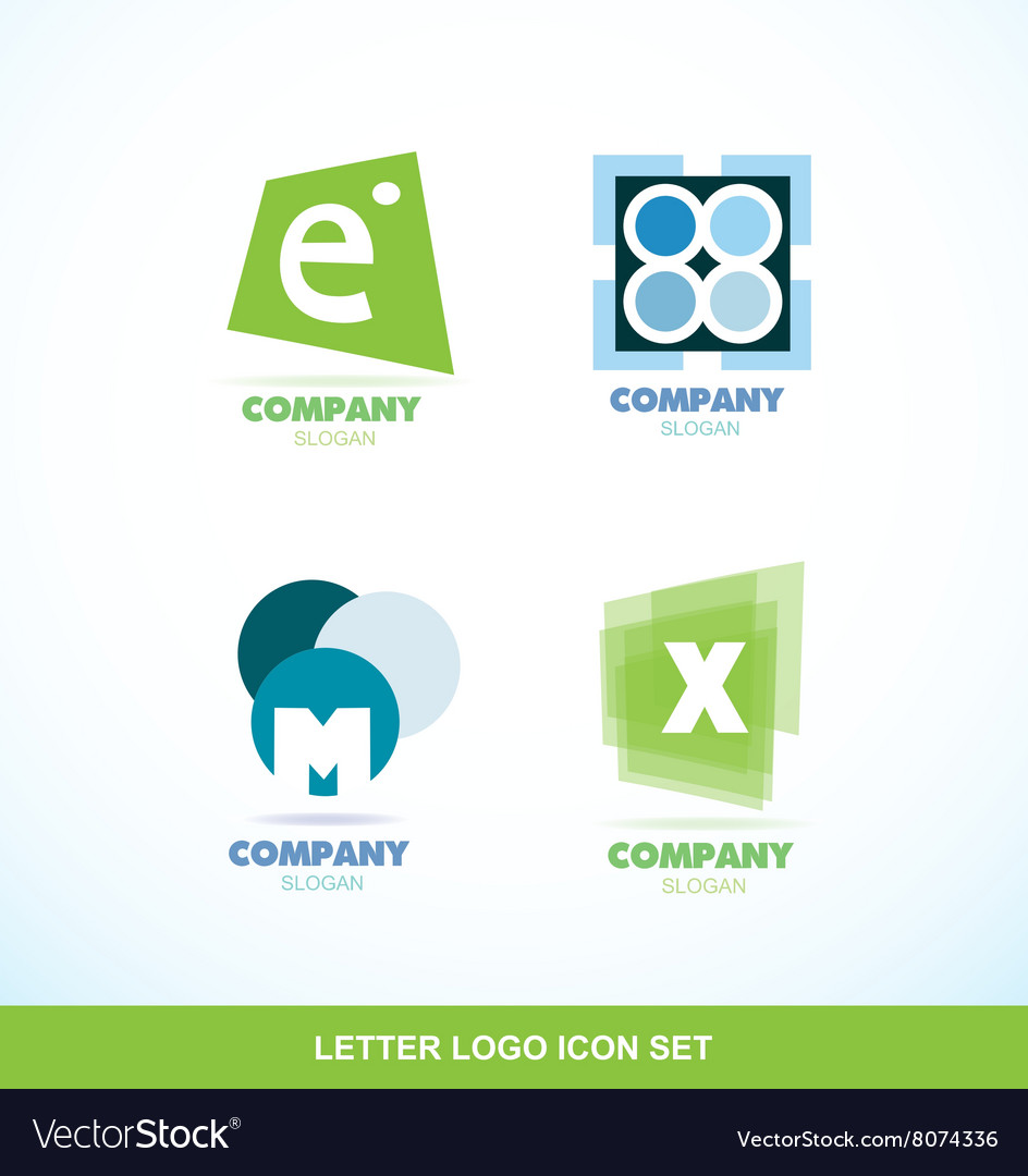 Letter logo icon set abstract circle