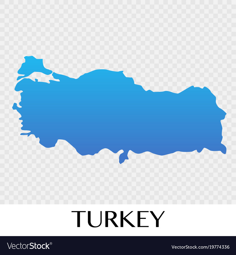 Image of: Turkey Map In Europe Continent Design Royalty Free Vector