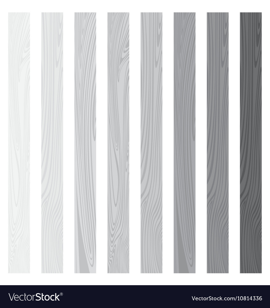 White Lath boards set isolated on white background