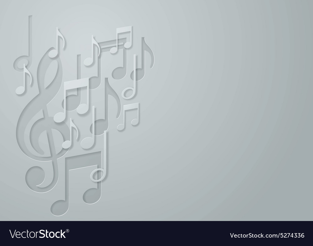 White Paper Music Note background