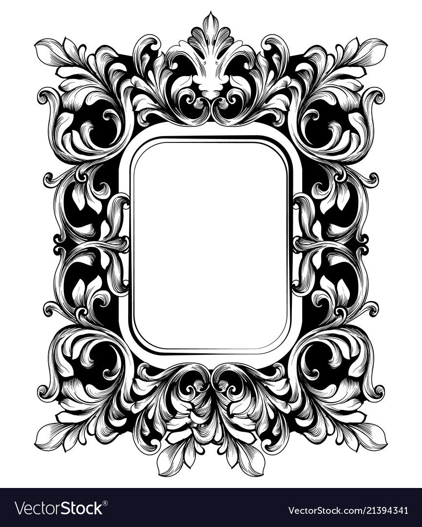 Baroque mirror sophisticated frame french